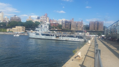 Helicopter training ship, IX-514, now a sailing school in Brooklyn,