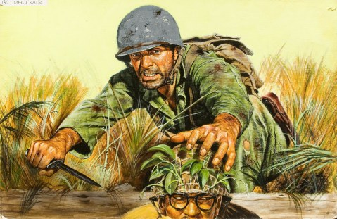MEL CRAIR (American, 20th Century). Men's adventure magazine illustration