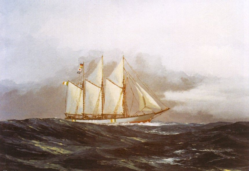 Oil Painting by Kenneth King, National Maritime Museum of Ireland