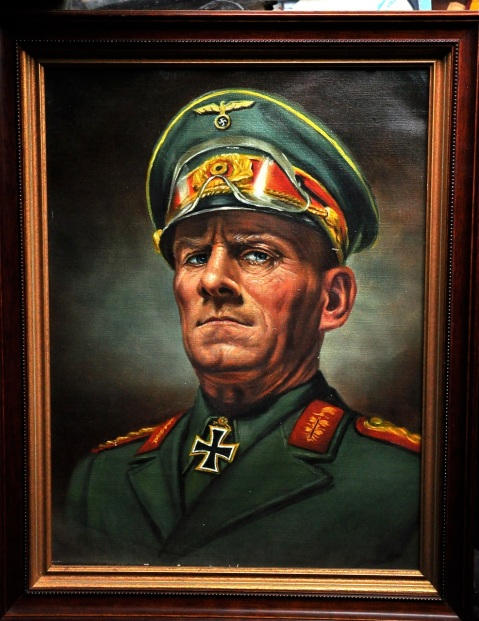 Rommel portrait for cover of Fighting Generals by Phil Hirsch 1960