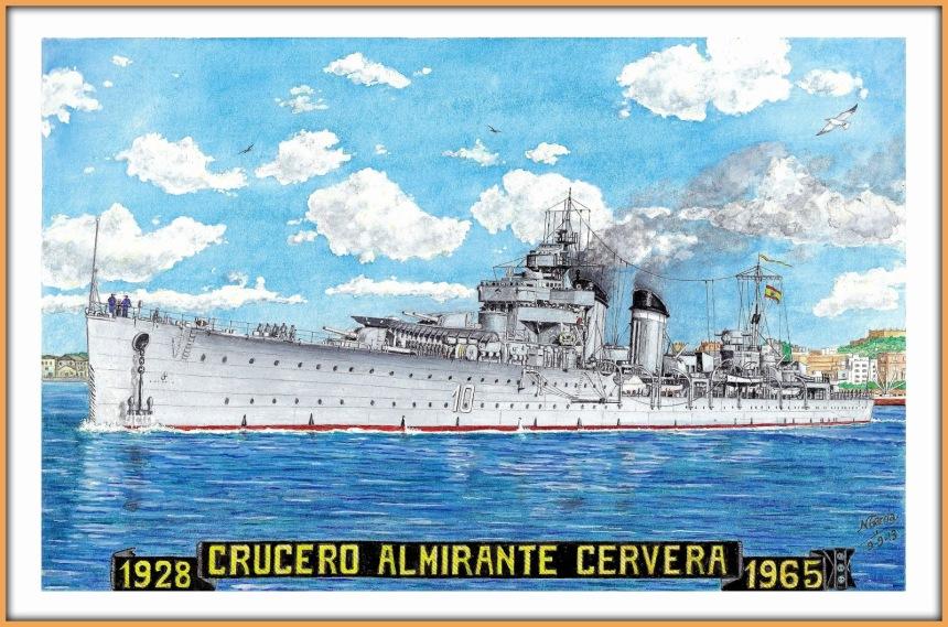 Spanish cruiser CRUCERO ALMIRANTE CERVERA manuel garcia garcia