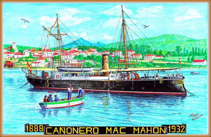 Spanish EL CAnONERO MAC MAHoN gunboat 1888-1932 manuel garcia garcia