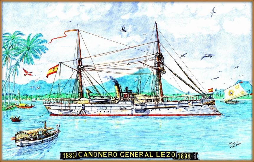 Spanish gunboat CANONERO GENERAL LEZO manuel garcia garcia
