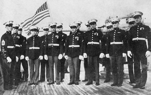 The Marine Detachment, USS Dauntless (PG-61) – mid-1942