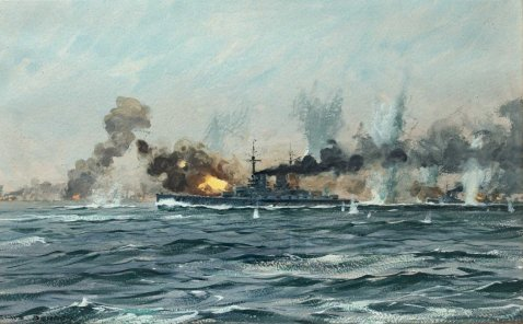 German battleships in action