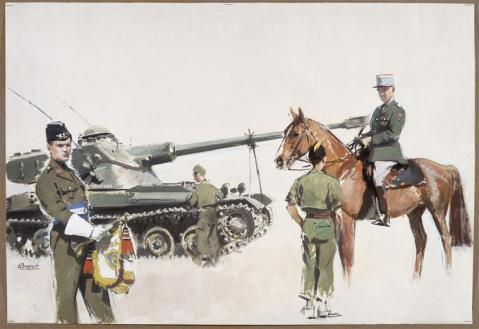 Mural for the 8th Cavalry regiment, 1993
