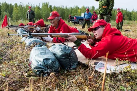 RE27-2015-0236-08 Members of the 1 Canadian Ranger Patrol Group perform target practice with the new C-19 Canadian Ranger rifle at the rifle range in Inuvik, Northwest Territories during Op NANOOK 2015, 17 August. The rifle model currently used is the Lee Enfield. While the stock of rifles now in use are excellent tools for an Arctic environment, their replacement with modern rifles is an exciting historical moment and are being used for the first time by the Canadian Rangers in Canada during Operation NANOOK 2015.