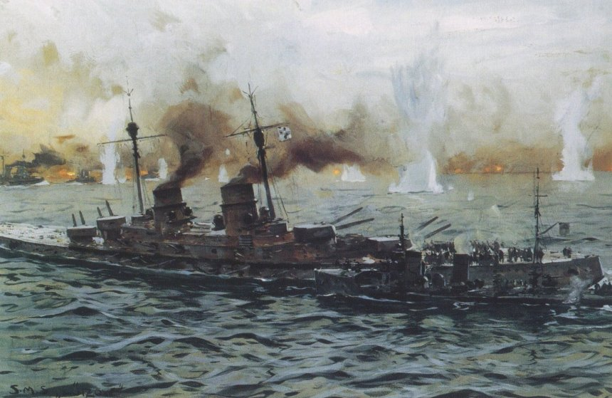 Hipper leaving Lutzow for SMS Moltke
