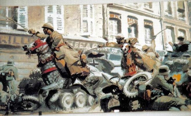 charge of the spahis la bataille de La Horgne le 15 mai 1940