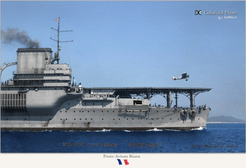 Close up of her pre-war. Note the two casemated 6.1-inch guns Photo colorized by irootoko_jr http://blog.livedoor.jp/irootoko_jr/