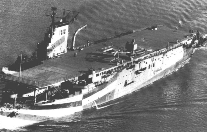 French carrier Béarn, 1946