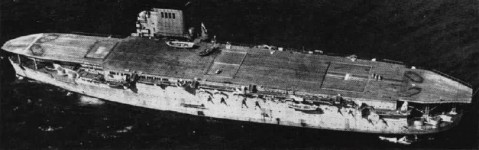 French carrier Béarn, date unknown, seen in the May 1963 issue of US Navy publication Naval Aviation News