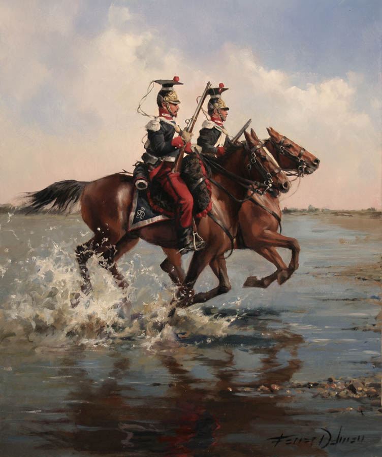 Spanish Royal Guard Tiradores de la Guardia Real, 1838 by Augusto Ferrer-Dalmau