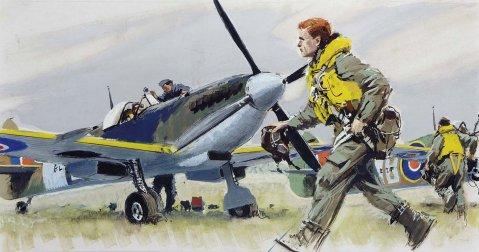 SPITFIRE XIV au décollage