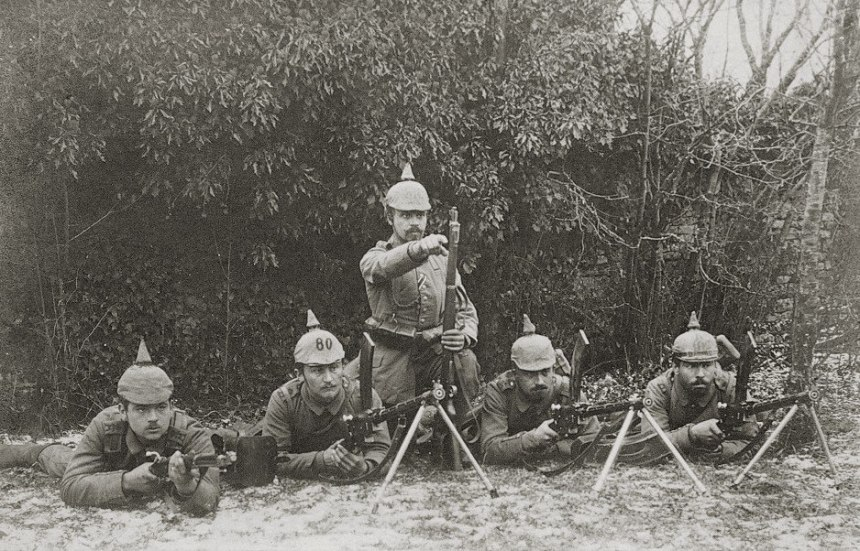 German soldiers with Madsen machine guns 1915