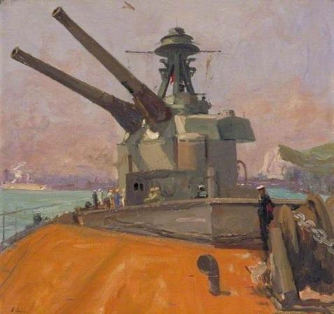 HMS 'Terror'.Date painted 1918