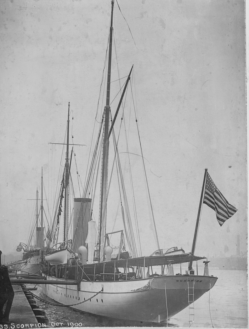 In October 1900. Description: Catalog #: NH 2742 Copyright Owner: Naval History and Heritage Command