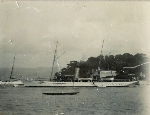USS Scorpion (PY-3) in Constantinople, circa 1912 NHHC UA 04.01 Margaret Duggan Collection