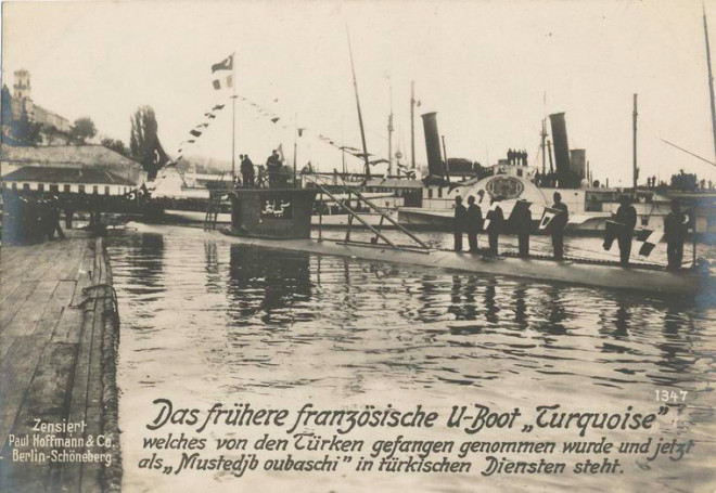 German propaganda postcard, note the Ottoman crew and markings