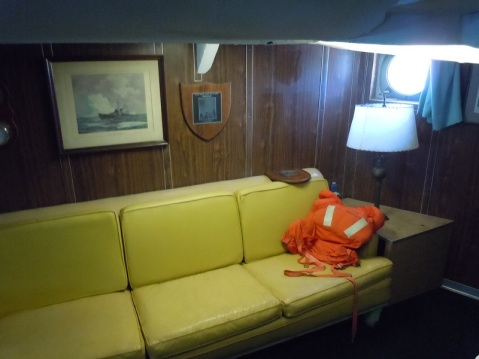 Captain's cabin. This would be the berth of the Admiral when she was an AGC in WWII