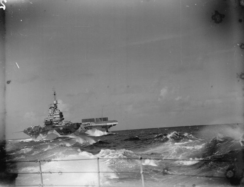 HMS Formidable, as part of Force A of the Eastern Fleet returning to Kilindini from Colombo, 2nd July 1942.