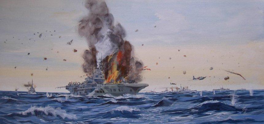HMS Formidable off Sakishima Gunto, 1945 via armoredcarriers.com