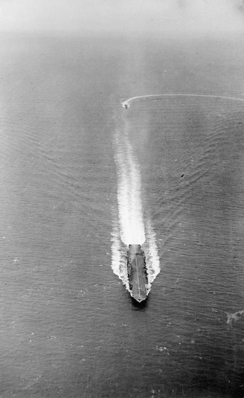 HMS Formidable underway in the Indian Ocean off Mombasa, Kenya, 1942