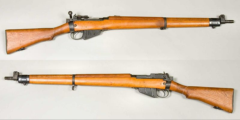 Lee-Enfield No 4 Mk I rifle, made in 1943. Caliber .303 British. From the collections of Armémuseum (Swedish Army Museum), Stockholm, Sweden.