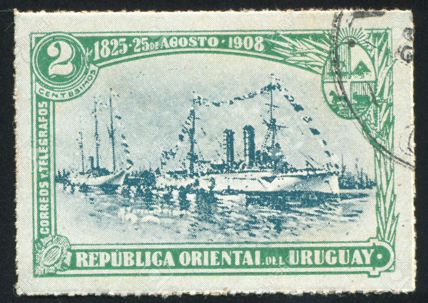 Her service to Uruguay is commemorated in several postage stamps in that country, after all, she was the fleet flag for over 20 years, though usually flew it in port only.
