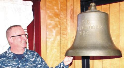 Her bell, image by the Shelbyville Times-Gazette http://www.t-g.com/story/2233377.html . The bell was made in Chattanooga by the Fischer Evans works. The bell will be displayed at the Navy Ball in Chattanooga this year
