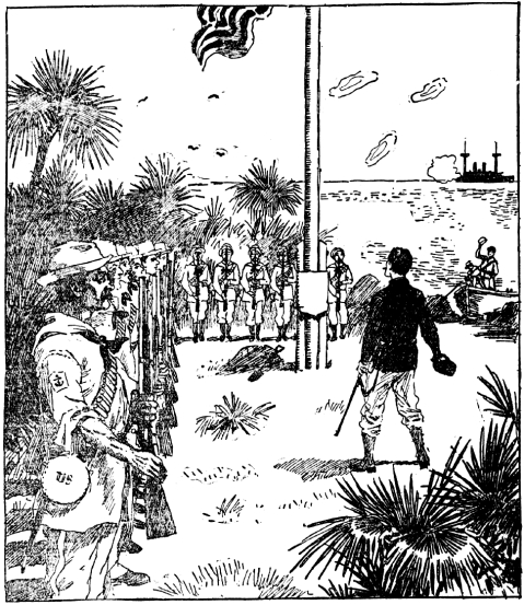 Commander (later RADM) Edward D. Taussig of the USS Bennington takes formal possession of Wake Island for the United States with the raising of the flag and a 21-gun salute on January 17, 1899. The only witnesses aside from her crew were seabirds.