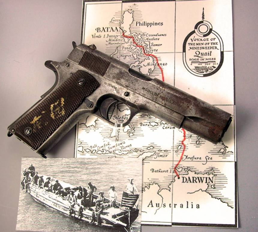 Corregidor Lifeboat Colt 1911 Pistol In May 1942, the minesweeper USS Quail