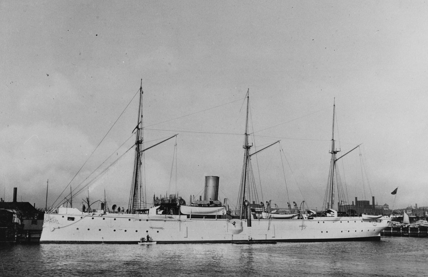 (Gunboat # 4) Photographed circa 1891 by J.S. Johnston, New York City. U.S. Naval History and Heritage Command Photograph. Catalog #: NH 63248