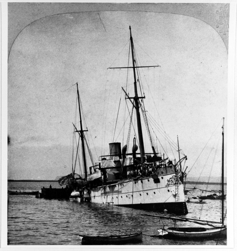 Gunboat # 4) Removing the dead from the ship, following her boiler explosion at San Diego, California, 21 July 1905. Photographed and published on a stereograph card by C.H. Graves, Philadelphia, Pennsylvania. The inscription published on the reverse of the original card is provided on Photo #: NH 89081 (extended caption). Courtesy of Commander Donald J. Robinson, USN(MSC), 1979 U.S. Naval History and Heritage Command Photograph. Catalog #: NH 89081