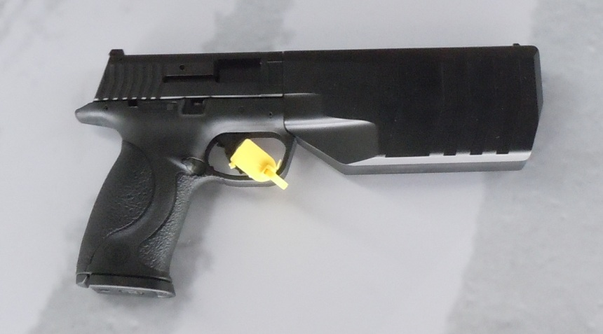 The original versions of the Maxim were based on the Smith M&P, which has been left behind. SilencerCo tells Guns.com the Maxim project has been two years in the making. (Photo: Chris Eger/Guns.com)