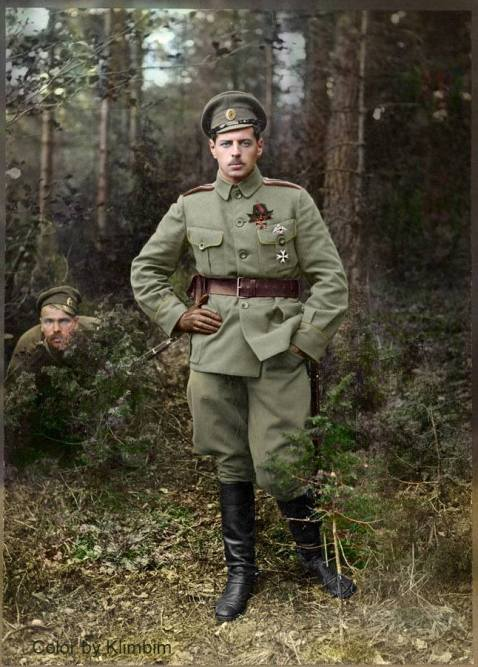 Staff captain of the Life-Guards Lithuanian Regiment Bogutskiy, WWI, Russian Army (with the Order of St. Vladimir 4 degrees with swords) mosin photo bomb