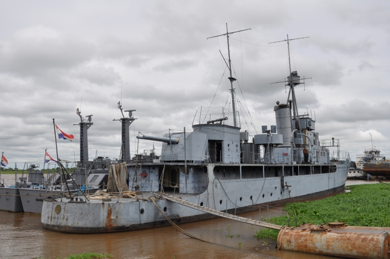 The vintage Paraguayan gunboat HUMAITÁ seen here at the Sajonia Naval Station, Asunción, Paraguay. via shipspotting
