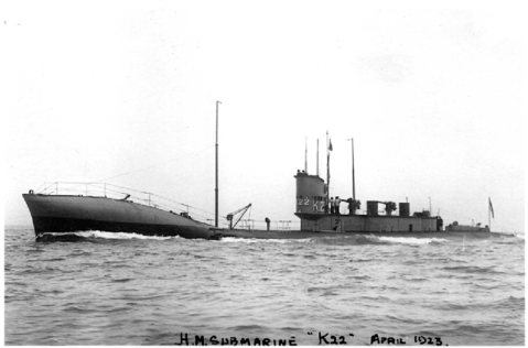 K13 as K23 late in her brief second life, 1923