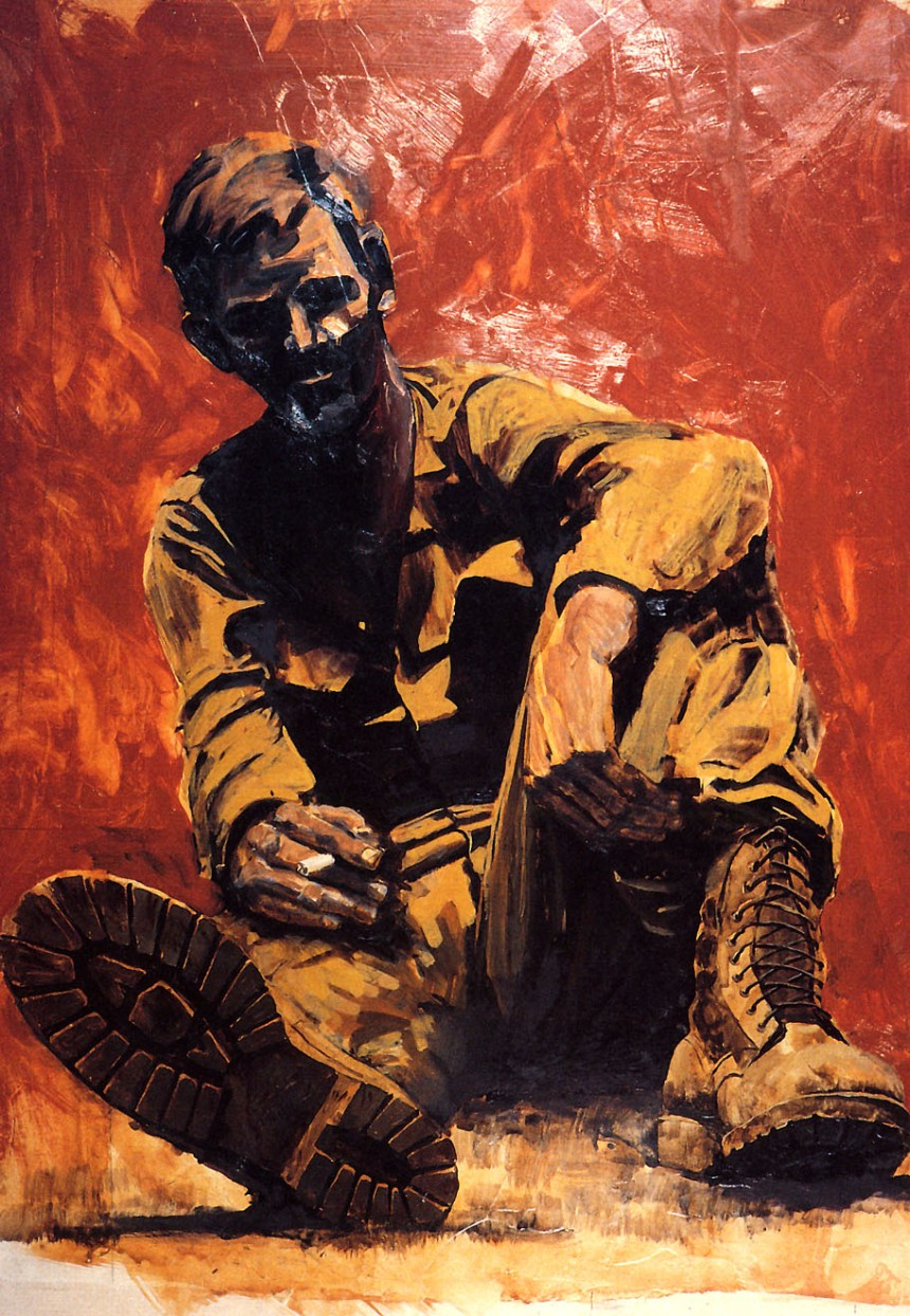 After the Battle Tan Hep, Vietnam By Michael R. Crook, 1967.