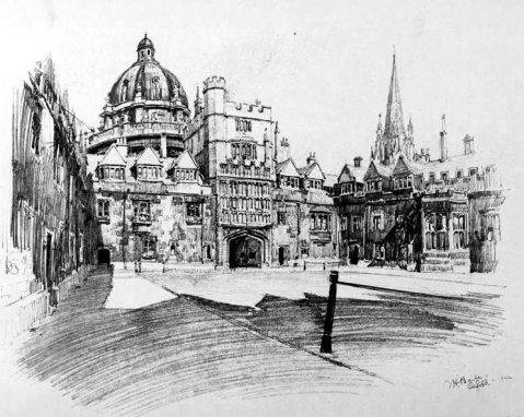 Brasenose College, Oxford by Vernon Howe