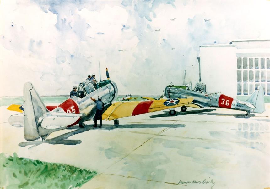 Landing planes at NAS Jacksonville.