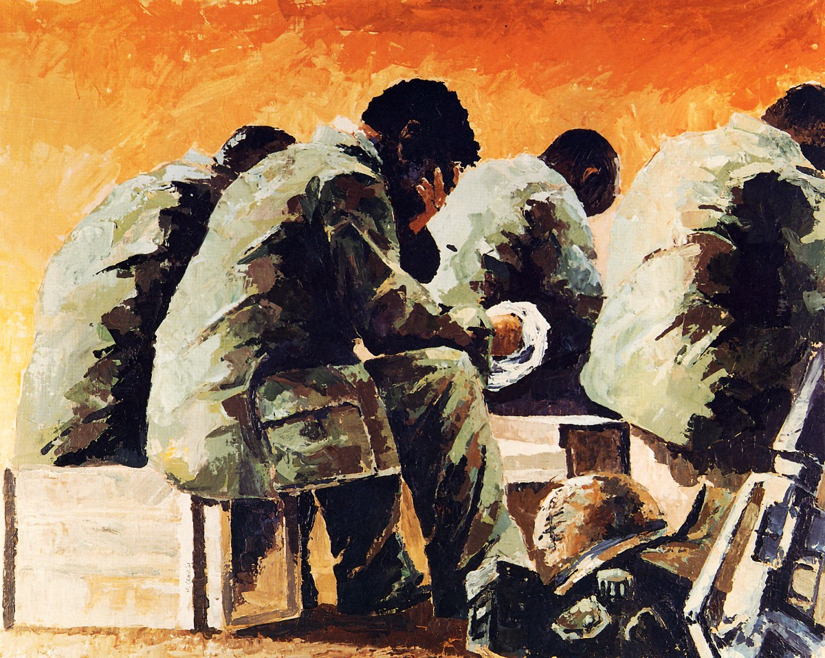 Easter Sunrise Base Camp English, Vietnam By Michael R. Crook, 1967