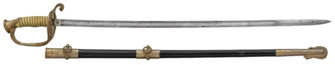 M1852 Naval officer's sword issued to the Revenue Cutter Service