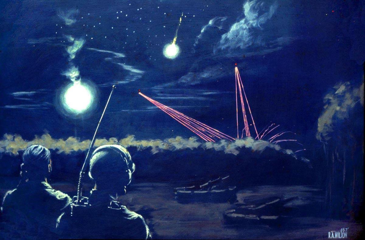 Mortar Attack Counterfire Ronald A. Wilson, CAT IV, 1967