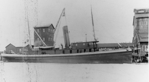 Conestoga (American Tug, 1904) in port, prior to World War I. U.S. Naval History and Heritage Command Photograph. Catalog #: NH 89794
