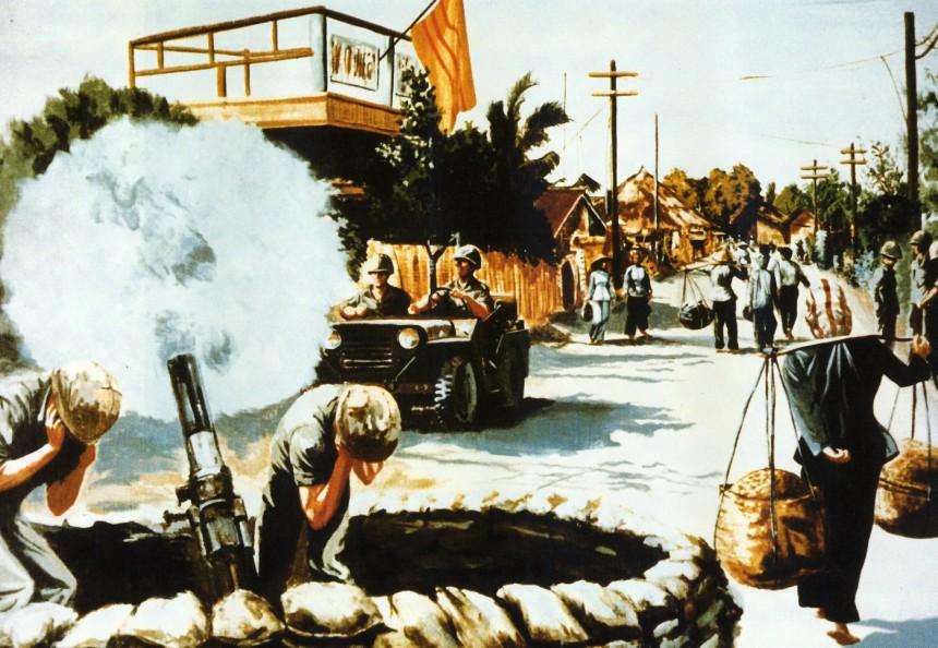 Street Scene Vietnam By Kenneth J. Scowcroft, 1967
