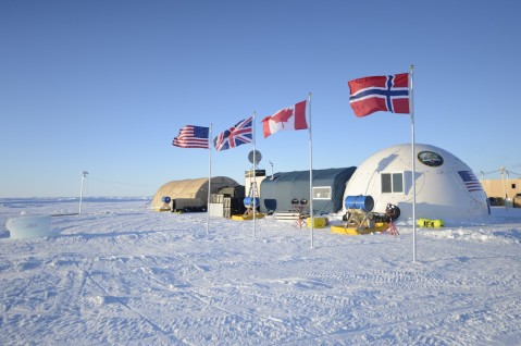 160311-N-QA919-061 Arctic Circle (March 13, 2016) - Ice Camp Sargo, located in the Arctic Circle, serves as the main stage for Ice Exercise (ICEX) 2016 and will house more than 200 participants from four nations over the course of the exercise. ICEX 2016 is a five-week exercise designed to research, test, and evaluate operational capabilities in the region. ICEX 2016 allows the U.S. Navy to assess operational readiness in the Arctic, increase experience in the region, advance understanding of the Arctic environment, and develop partnerships and collaborative efforts. (U.S. Navy photo by Mass Communication Specialist 2nd Class Tyler Thompson)