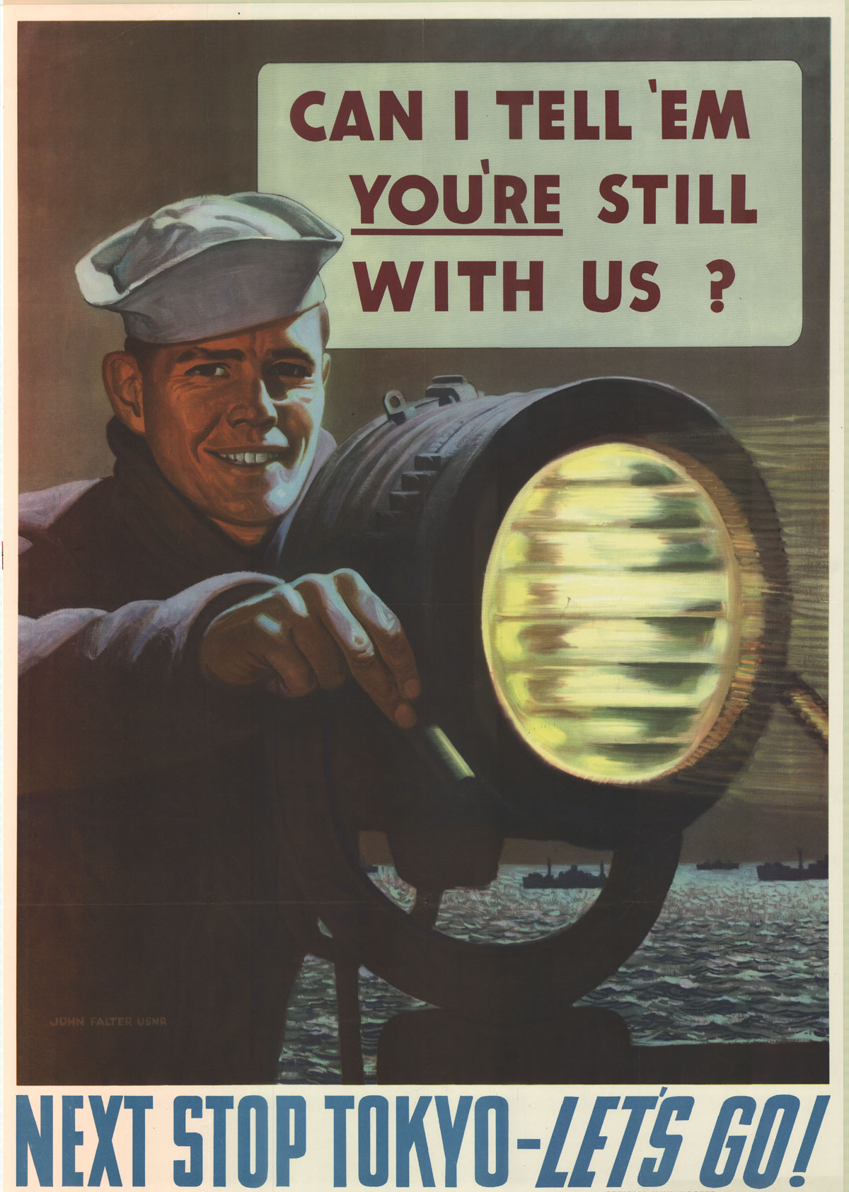 """Note how Falter signed these Navy posters as """"Lt, USNR"""""""