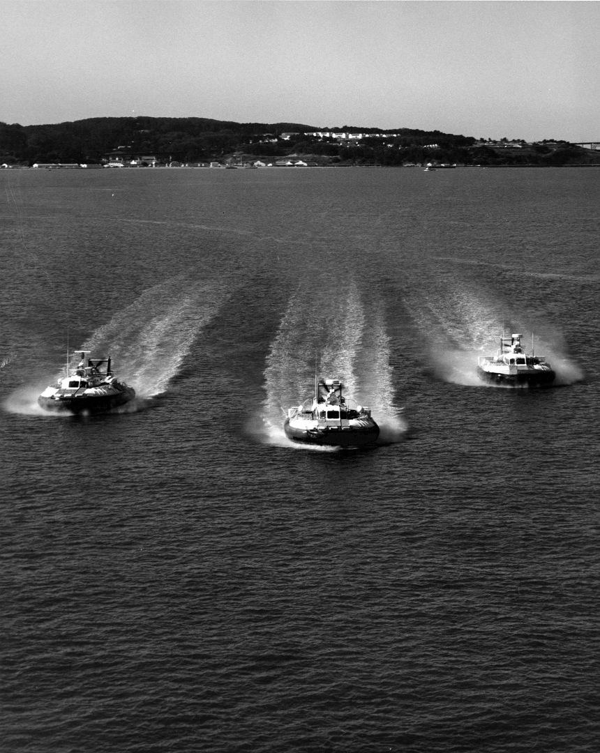 Behold, the Coast Guard's hovercraft fleet!