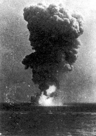 Explosion aboard Roma, Strait of Bonifacio